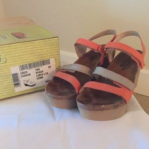 NAOT wedge sandal woman size 39
